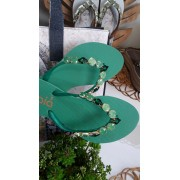 Sandália verde INDAIÁ