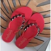 Sandália vermelha coração INDAIÁ