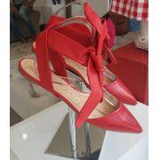 Sapatilha Carrano vermelha com amarração