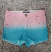 Short Animê Degradê rosa com azul