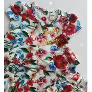 Vestido Animê floral vermelho