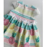 Vestido Animê malha abacaxi candy colors