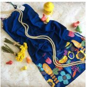 Vestido azul marinho jardim PRECOCE
