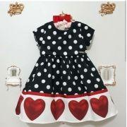 Vestido barrado corações MOMI