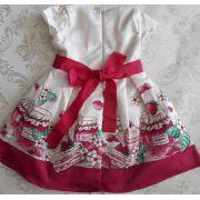 Vestido barrado Geléia MOMI