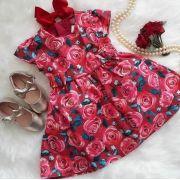 Vestido flora vermelho MOMI