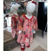 Vestido navy floral CAMU CAMU
