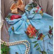 Vestido Precoce azul claro floral
