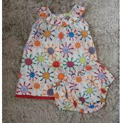 Vestido Precoce bebê sol