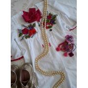 Vestido PRECOCE bordado branco