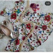 Vestido PRECOCE mini flores do jardim