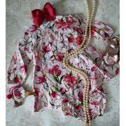 Vestido rosa floral ANIMÊ