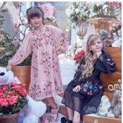 Vestido rosê midi bordado ANIMÊ