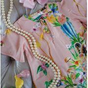 Vestido rosinha floral PRECOCE