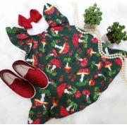 Vestido Verde Cogumelos Precoce