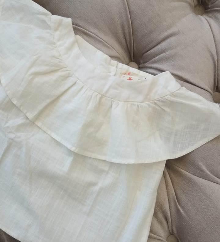 Blusa Fábula linho off white