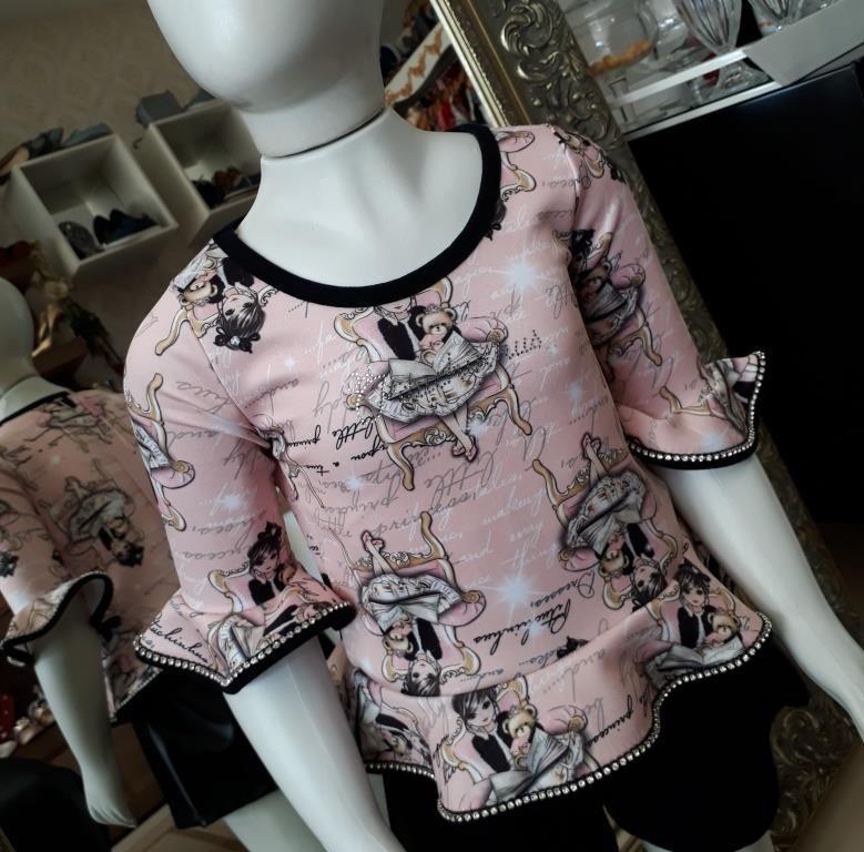 Blusa rosa bonecas PITUCHINHUS