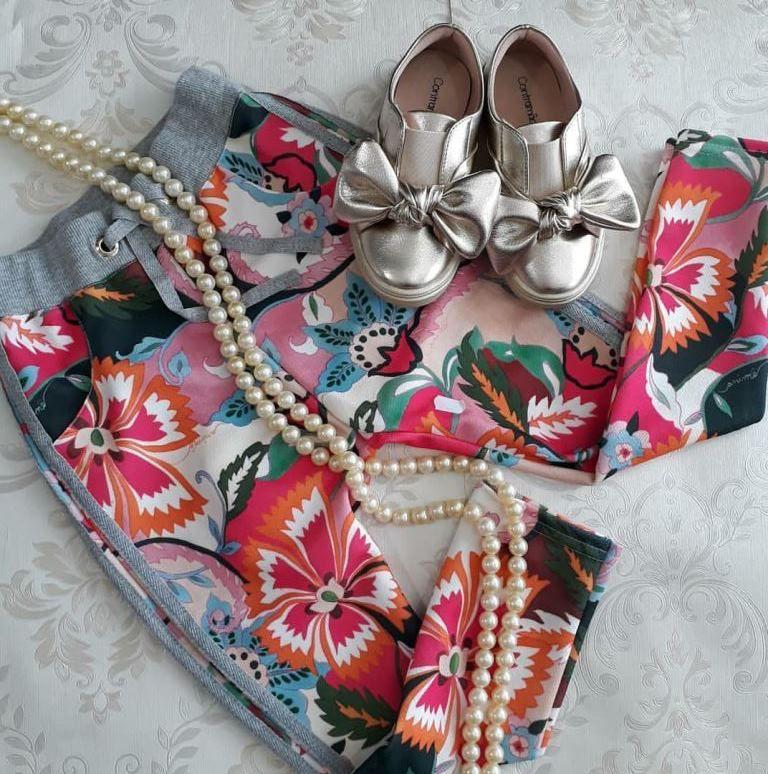 Calça floral Coachella ANIMÊ