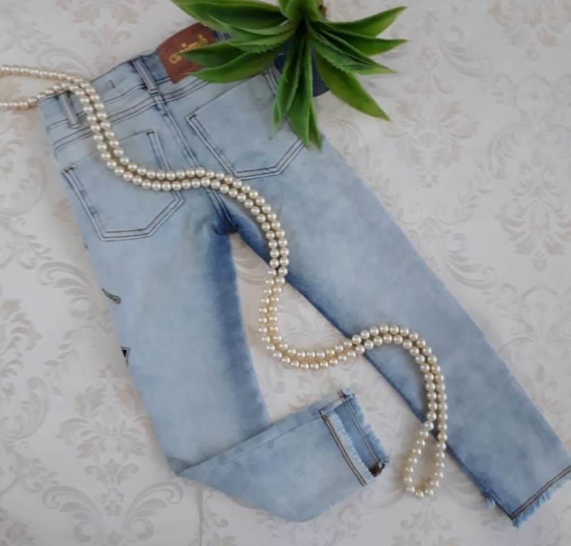 Calça jeans patches ANIMÊ