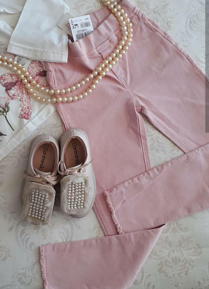 Calça sarja rosa MOMI