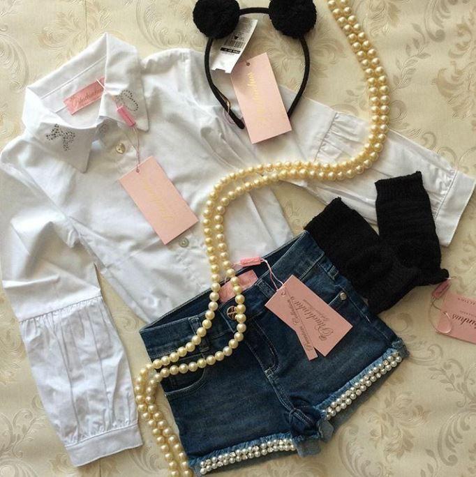 Camisa branca PITUCHINHUS