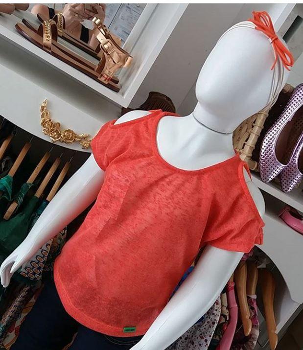 Camiseta laranja CAMU CAMU