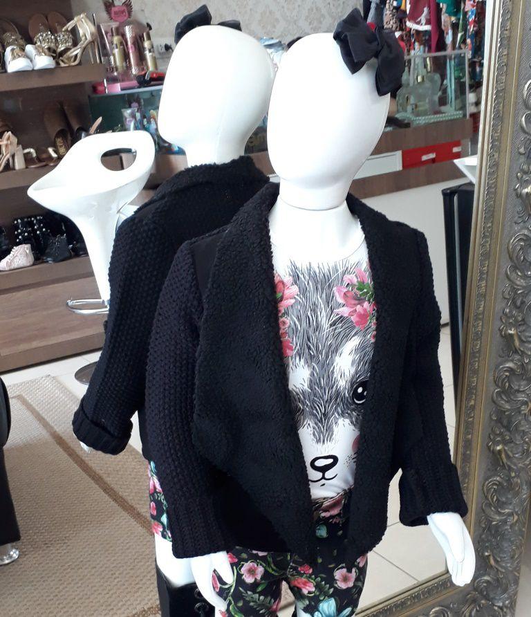 Casaco preto tricô ANIMÊ
