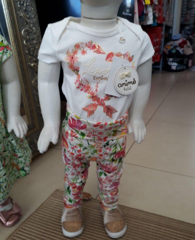 Conjunto bebê floral ANIMÊ