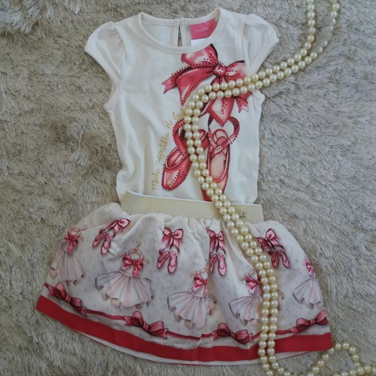 Conjunto blusa e saia bailarina MOMI