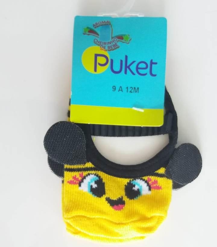 Meia sapatilha Puket amarelo abelha