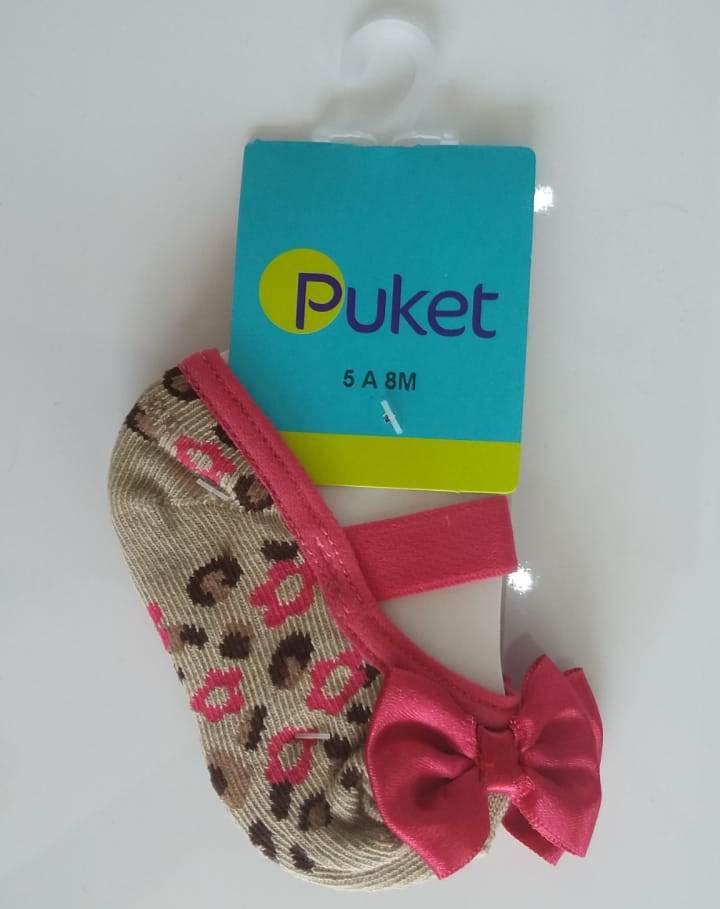 d238791070 Meia sapatilha Puket onça bege com pink - LUANA CRIS SHOES BABY   KIDS