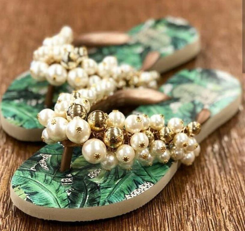 Sandáia INDAIÁ pérolas