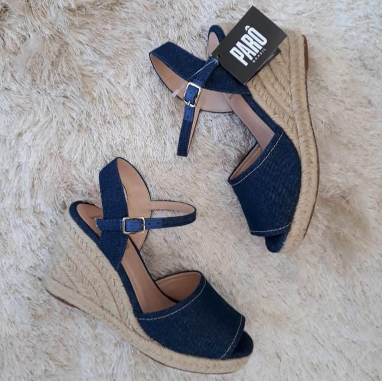 Sandália anabela jeans PARÔ