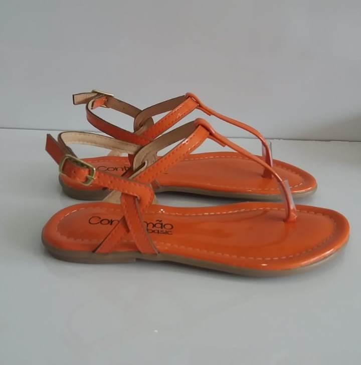 Sandália Contramão laranja