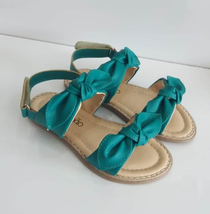 Sandália Contramão verde nózinhos