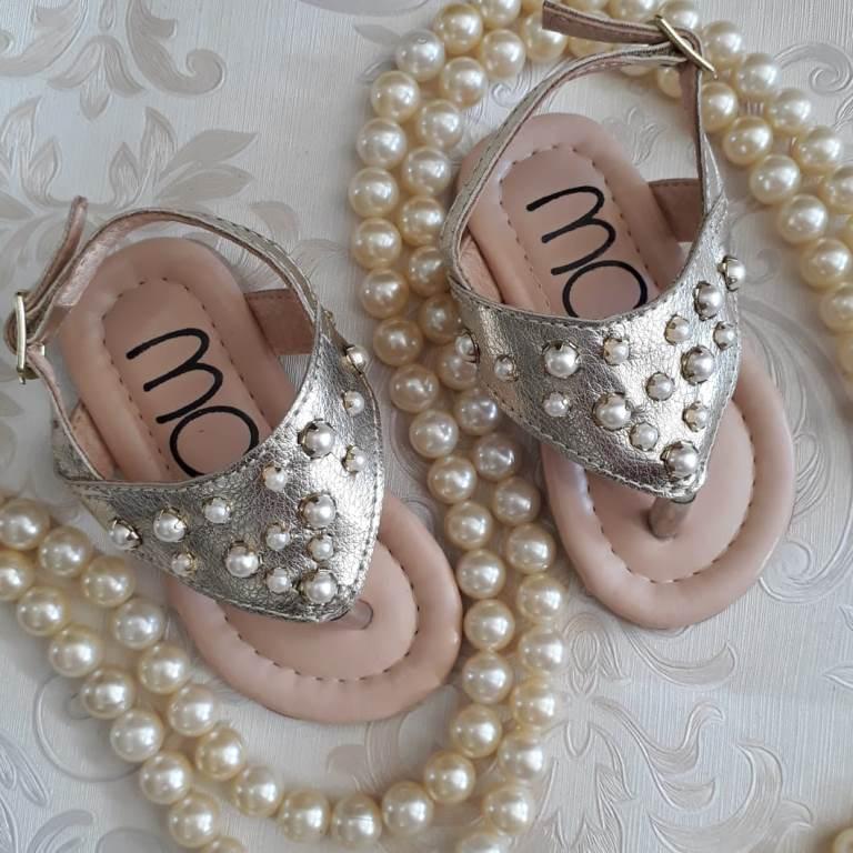 Sandália dourada MARIA CARAMELO