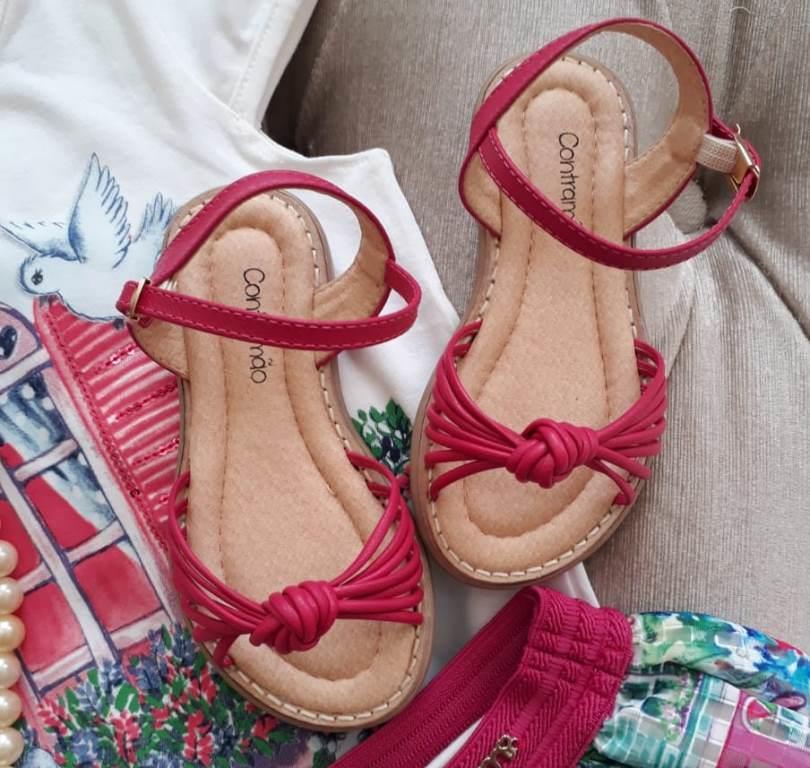 Sandália pink nózinho CONTRAMÃO