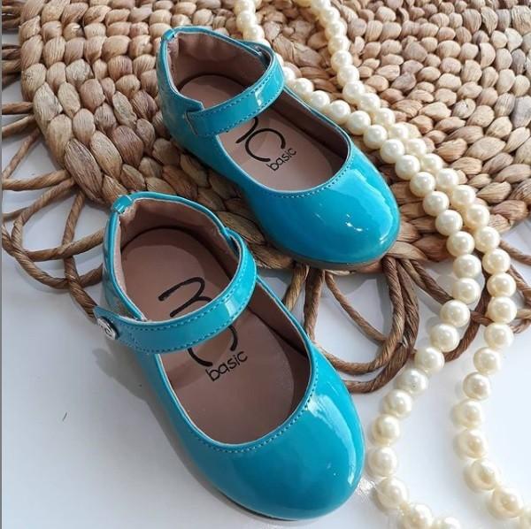 Sapatilha azul turquesa MARIA CARAMELO