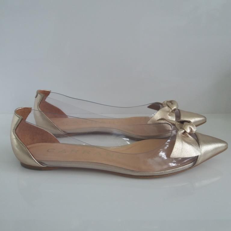 Sapatilha vinil metal/incolor light gold CARRANO