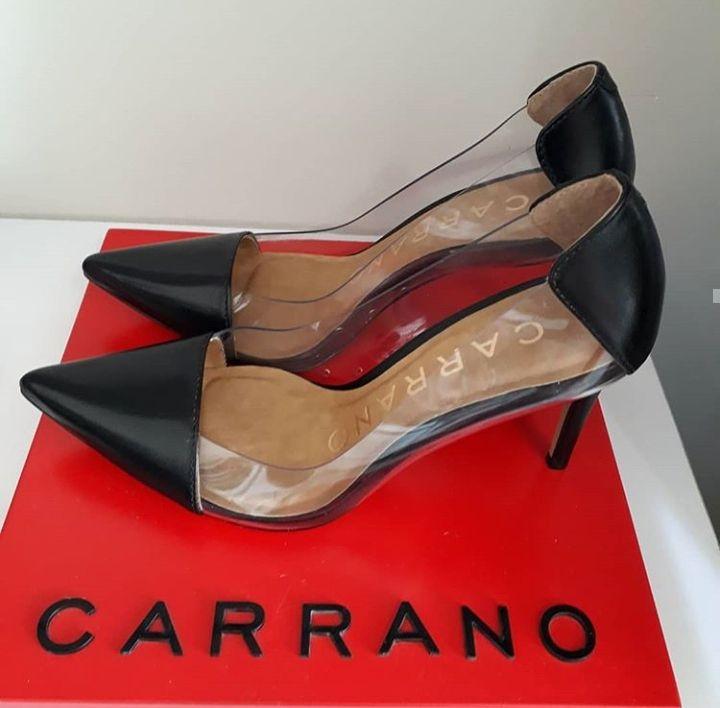 Scarpin vinil preto CARRANO