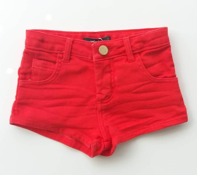 Short Animê sarja vermelho