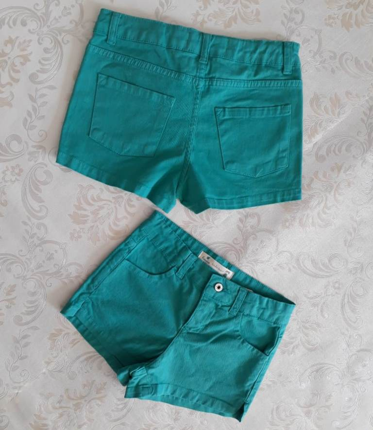 Short jeans turquesa FÁBULA