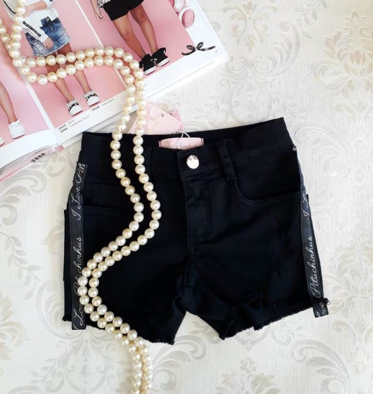 Short preto PITUCHINHUS