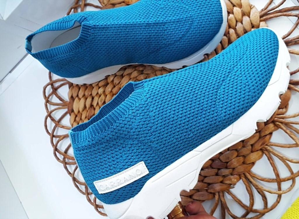 Tênis knit azul CARRANO