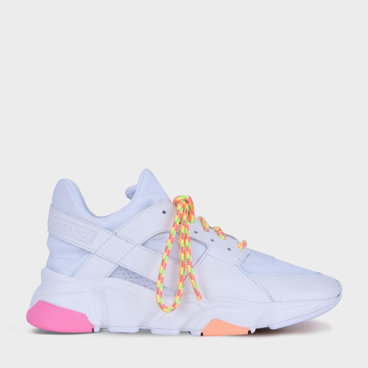 Tênis branco com neon CARRANO