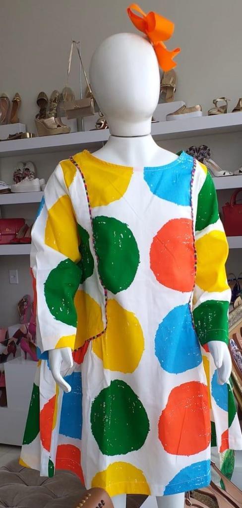Vestido bolas colorida FABULA