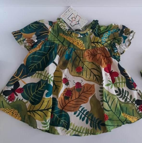 Vestido fábula bebê microcosmos