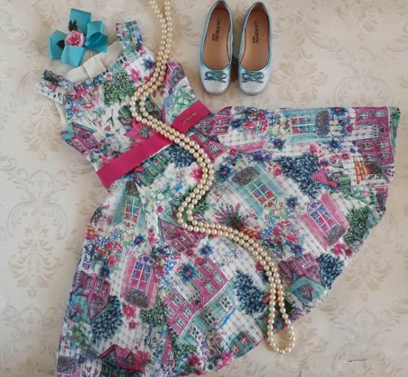 Vestido festa casinha MOMI