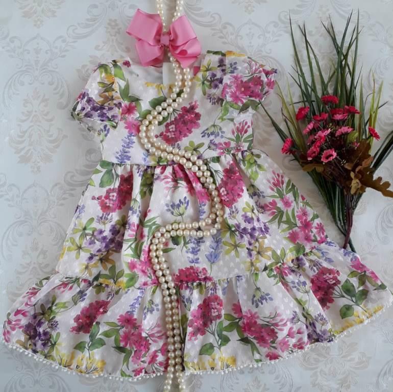 Vestido floral lavandas MOMI