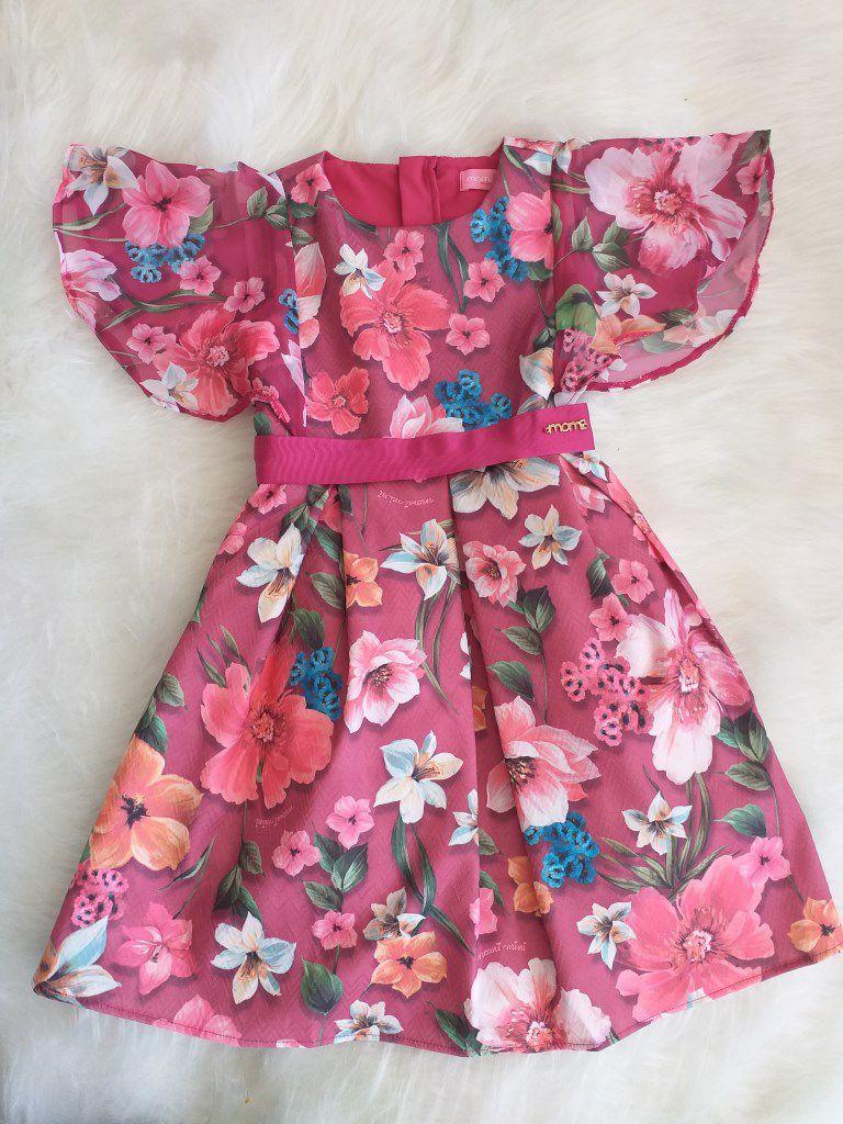 Vestido floral marsala MOMI